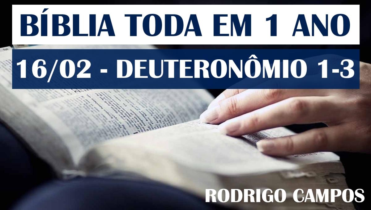 Bíblia Toda em 1 Ano – Dia 16/02 – Deuteronômio 1-3 – NVI